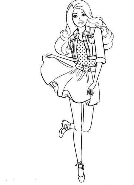 Раскраска Барби 3
