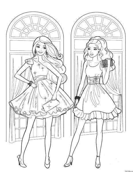 Раскраска Барби 2