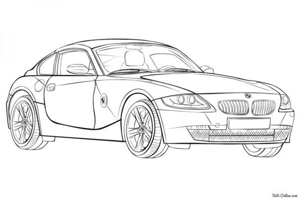 Раскраска машины BMW